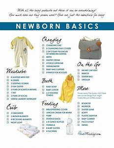 Newborn basics registry checklist   Baby stuff   Pinterest ...
