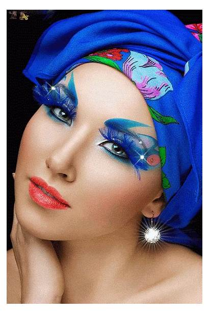 Makeup Eyes Animated Splash Glitter Gifs Faces