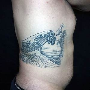 Tsunami Designs 60 Japanese Wave Designs For Men Oceanic Ink Ideas