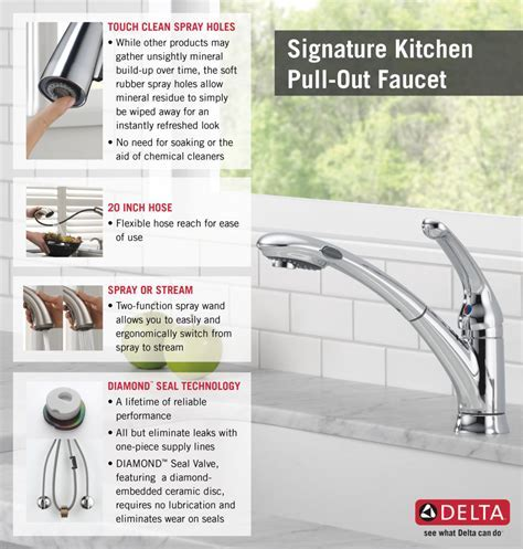 Delta Signature Single Handle Pull Out Sprayer Kitchen