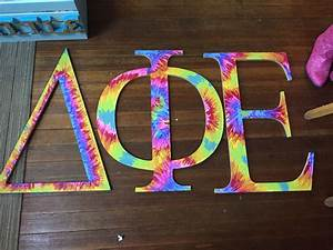tie dye wooden greek letters my crafts pinterest With fraternity wooden letters