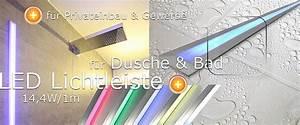 Lampe Für Dusche : led dusche beleuchtung led schiene beleuchtung in der dusche bad ~ Frokenaadalensverden.com Haus und Dekorationen
