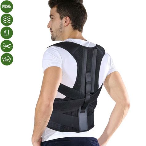 Posture Corrector, Back Brace with Lumbar Support to ...