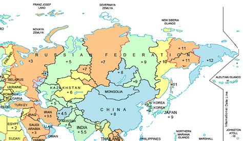 russia time zones russia current time
