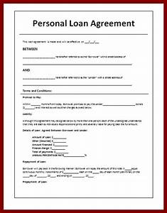 Loan agreement and form templates vlashed for Personal loan document sample