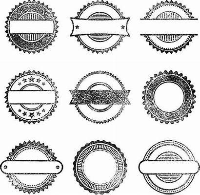 Blank Vector Stamps Stamp Grunge Rubber Round