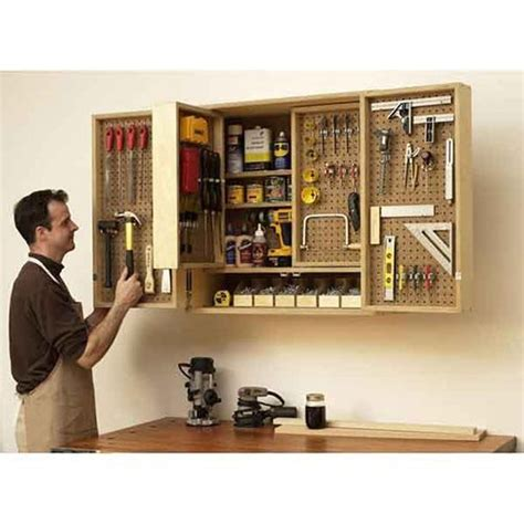 shop in a box tool cabinet wood pinhole plans