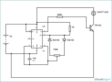 Pwm Led Dimmer Circuit Diagram Using Timer