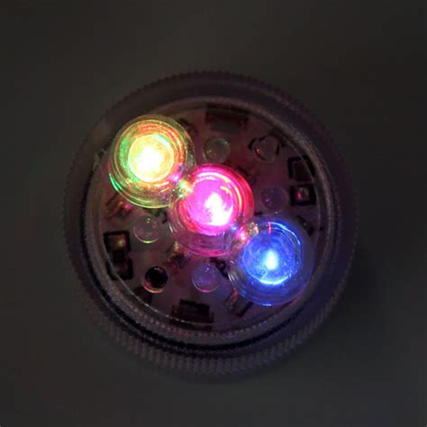 bright 3 led color changing waterproof tea light