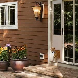 Power pet electronic pet door for sliding glass patio doors for Removable dog door for sliding glass door