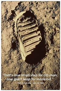 One Small Step Poster - Moon Posters, Picture, Print ...