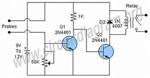 automatic plant watering irrigation control circuit With plant water alarm