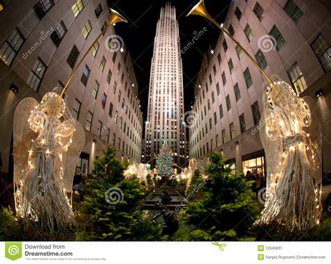 weihnachtsbaum new york redaktionelles foto bild von