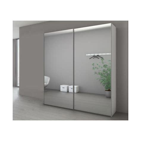 Armoire Marcato à 2 Portes Coulissantes Miroir Argent