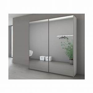 Porte Coulissante Placard Miroir : armoire penderie portes coulissantes miroir ~ Melissatoandfro.com Idées de Décoration