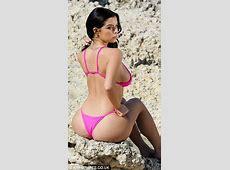 Demi Rose suffers nip slip showcasing derriere in Greece