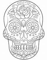 Catrinas Colorear Siempre Coloring Catrinas10 Skull Habla Calla Ahora sketch template