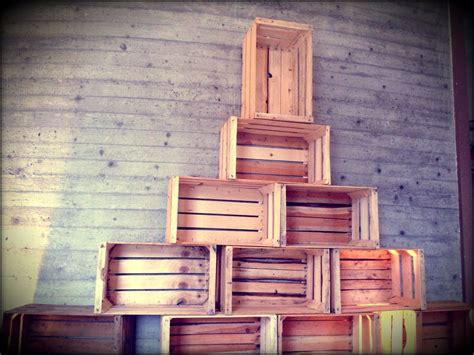 wooden crates christmas tree christmas decorating
