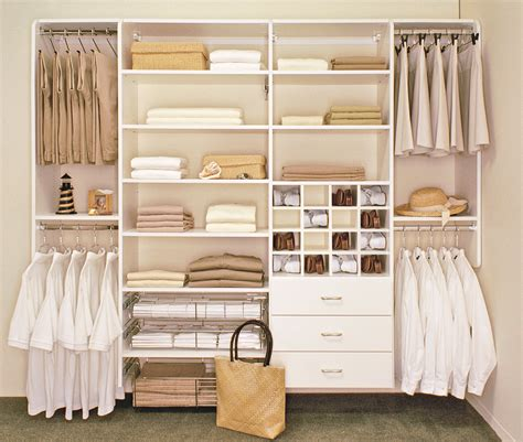 Awful White Polished Wooden Floating Closet Design Ideas