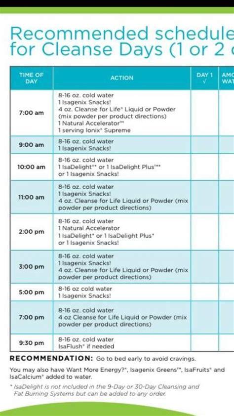 isagenix shake day schedule google search healthy
