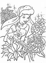 Coloring Cinderella Princess Pages Disney Printable Rose Princesses Flowers Printables Flower Cartoon Bubakids Mermaid Cartoons Books Many Characters Thousands Regarding sketch template