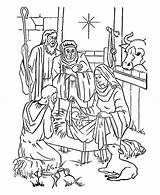 Jesus Coloring Nativity Bethlehem Star Pages Christmas Story Shepherds Bible Manger Drawing Stable Adorations Getdrawings Alifiah Biz Play Cross sketch template