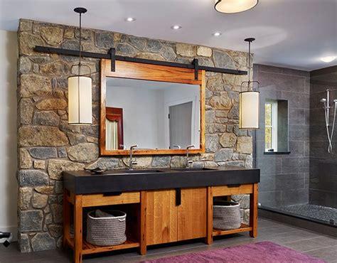 Barn Door Mirror Over Medicine Cabinets Interior Design