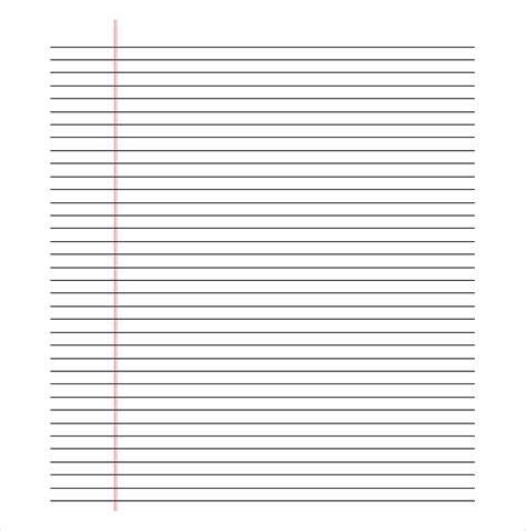 lined paper template pdf printable lined paper pdf template business