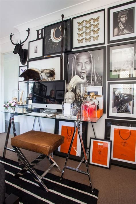 20 masculine home office with leather touch house design