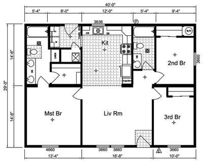 Floor Plans For 1 Story Homes by Simple Small House Floor Plans Simple One Story House