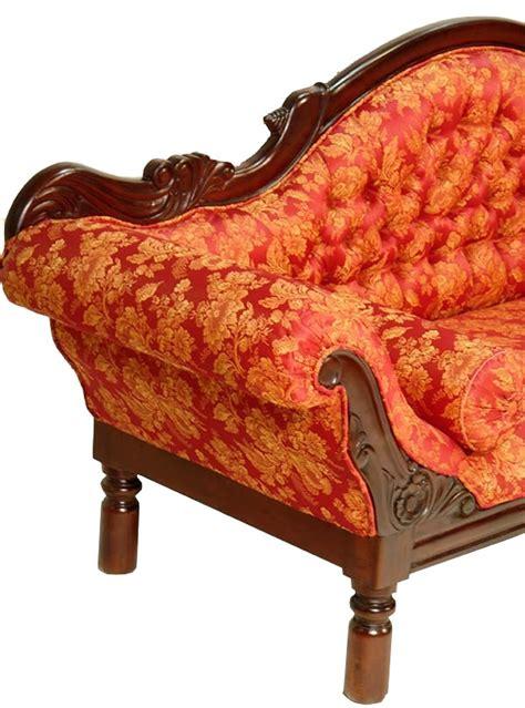canapé style anglais en tissu canap style colonial acajou tissu grignon meuble de