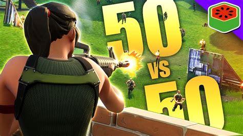 Amazing New 50 Vs 50 Game Mode!  Fortnite Battle Royale