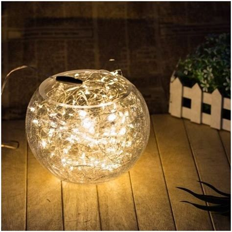 solar copper wire string 100 led lights decoration