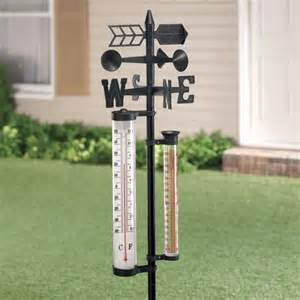 weather vane center rain gauge and thermometer miles