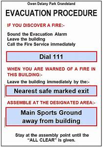 emergency evacuation plan template nz templates resume With fire evacuation procedure template free