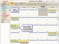 An Open Way to Organize Your Travel Plans Using Zimbra