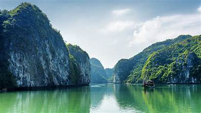 Vietnam Nature Bay Halong Wallpapers Sea Mountains