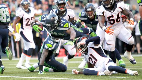 seattle seahawks beat denver broncos  marshawn lynch