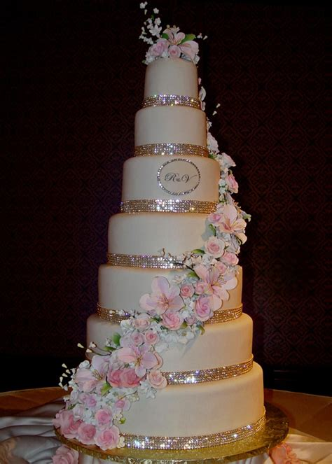 glitter wedding cake im  love  red flowers