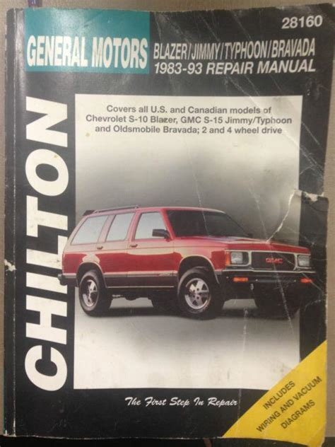 1982 93 chiltons repair manual for general motors chevy s10 gmc s15 pick ups ebay find chilton general motors repair manual 28160 motorcycle in bellingham washington us for us