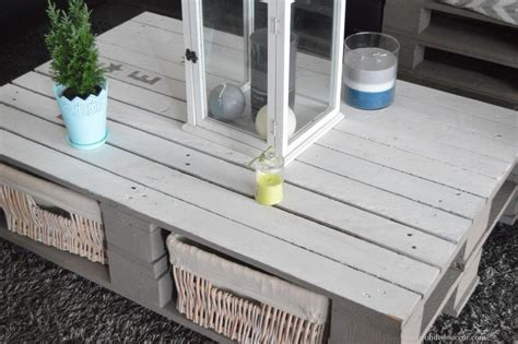 diy table basse palette bricolage table