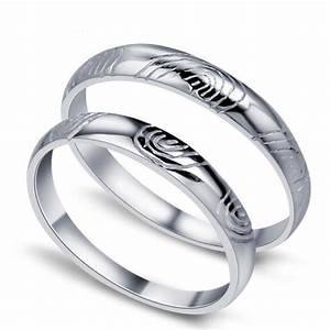 fingerprint of love his and her matching wedding ring set With wedding rings sets for his and her