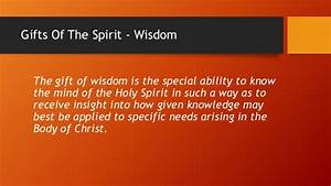 Gifts of the spirit week 03