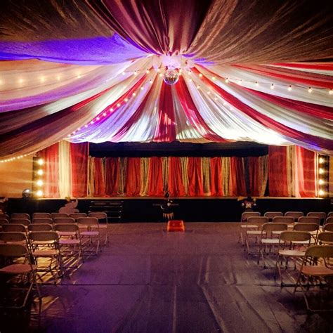 circus tent church event decor mint