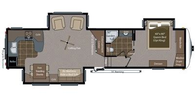Montana 5th Wheel Floor Plans 2011 by 2011 Keystone Rv Montana Hickory Fifth Wheel Series M 3585