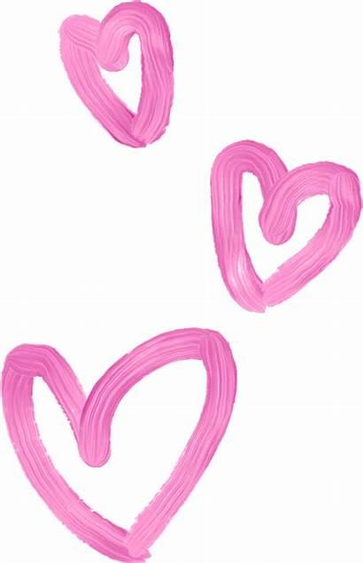 Clipart Girly Transparent Hearts Corazones Pink Lovely