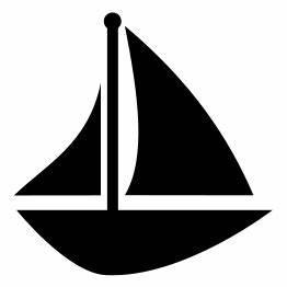 Boat Silhouette Clip Art | Car Interior Design