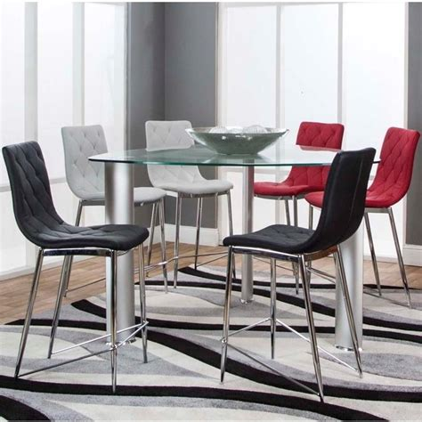triangle dining table set cramco inc turbo 54 quot triangle glass top counter height