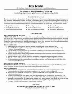 Banking Manager Sample Resume uxhandy