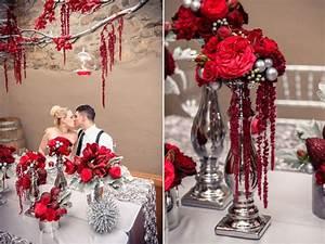 Décoration Mariage Rouge Et Blanc : decoration mariage rouge blanc et argent ~ Melissatoandfro.com Idées de Décoration